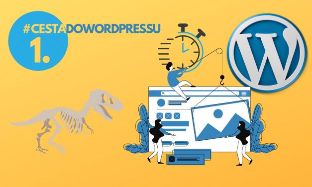 Cesta do WordPressu #1 Jak jsem vyhodil  desetisíce, abych objevil  WordPress šablonu
